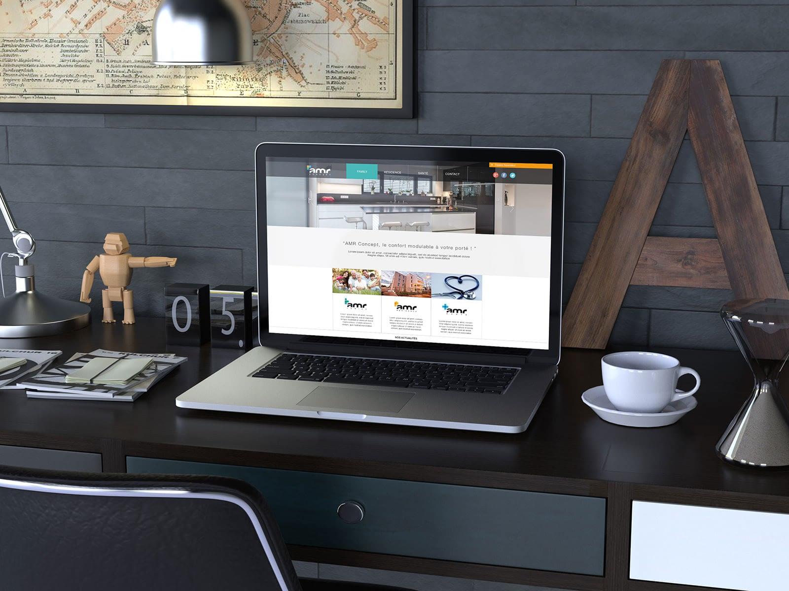 site internet d'AMR Concept, graphiste à Lyon : Laurent Pischiutta